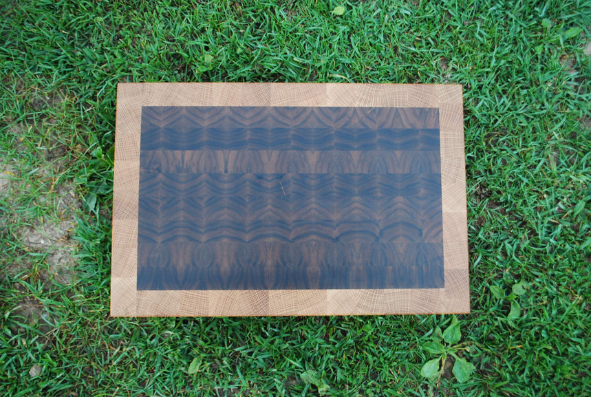 Oak and Walnut End Graind Cutting Board