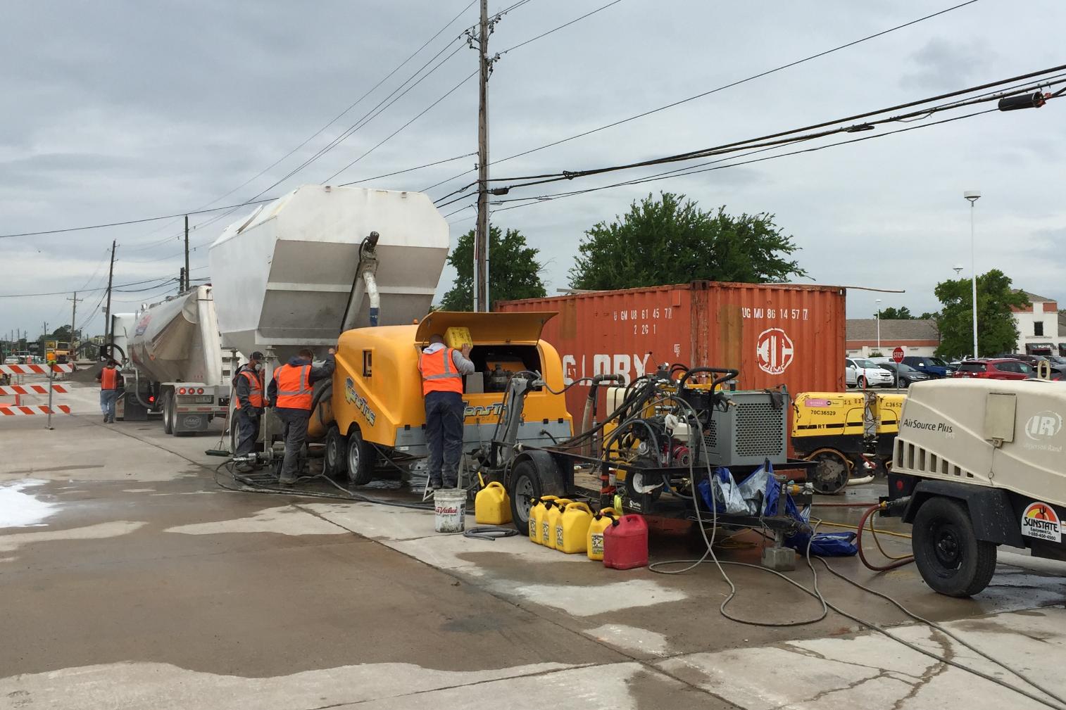 Cellular Concrete Pumping Set Up