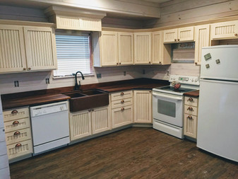 Kitchen Cabinets and Walnut Countertop