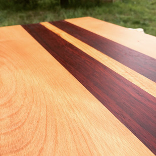 Beech,Padauk, & Cherry Cutting Board