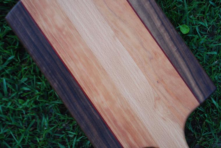 Walnut, Padauk, Cherry, and Beech Paddle Board