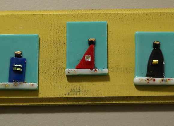 Reyes Plaques - yellow/turquoise
