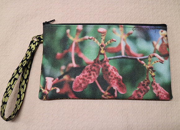 Orchid Photo on Canvas Clutch