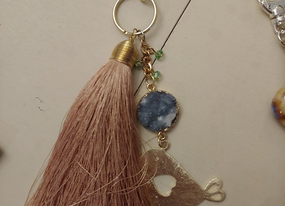 Champagne color keychain