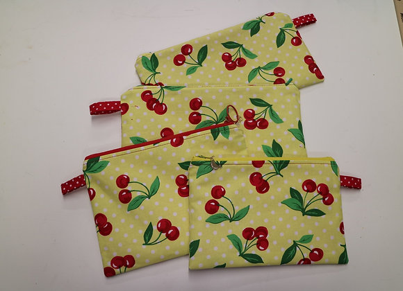 Cherries pouch - 10x5 inches