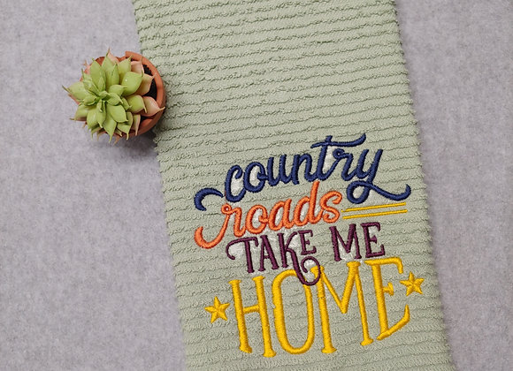 Country Roads Take Me Home Kitchen Towel