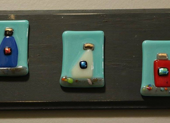 Reyes Plaques - gray/turquoise