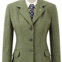 CALDENE COMPETITION JACKET SOUTHWOLD TWEED GREEN CHECK