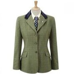 CALDENE COMPETITION JACKET SILVERDALE TWEED GREEN CHECK