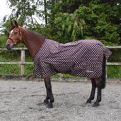 WHITAKER TURNOUT RUG LIGHTWEIGHT LYDGATE 0 GM BROWN/PINK DOT