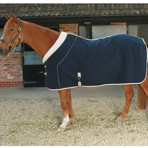 MARK TODD FLEECE RUG DELUXE NAVY/BEIGE