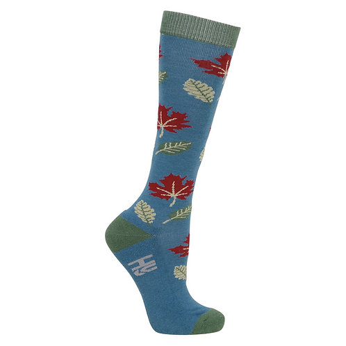 HyFASHION Falling Leaves Socks (Pack of 3)