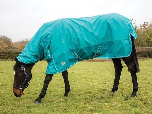 JHL ESSENTIAL COMBO TURNOUT RUG LIGHTWEIGHT EXTRA TURQUOISE