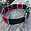 Thumbnail: Polo Dog Collars Red Blue and White Stripe