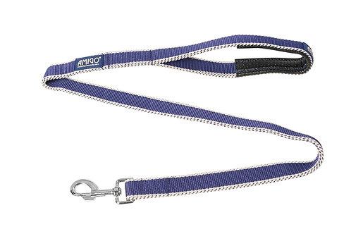 HORSEWARE AMIGO DOG LEAD ATLANTIC BLUE/IVORY