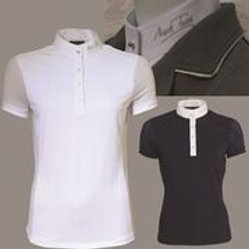 MARK TODD COMPETITION POLO SHIRT AMBER LADIES NAVY