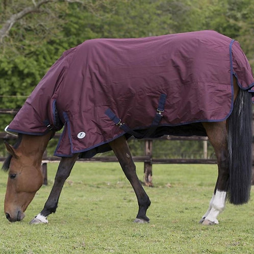 JHL COMBO ESSENTIAL TURNOUT RUG MEDIUMWEIGHT COMBO BURGUNDY/NAVY