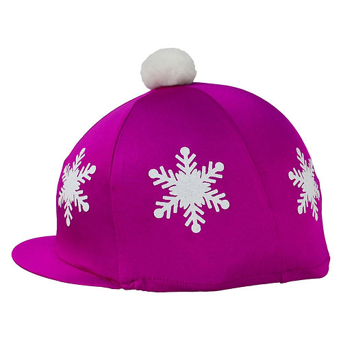 HyFASHION Snowflake with Pom Pom Hat Cover