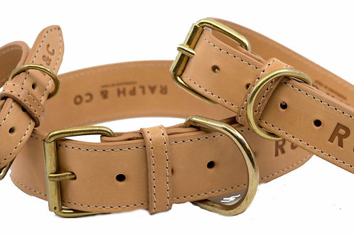 RALPH & CO DOG LEAD DOUBLE LEATHER STANDARD