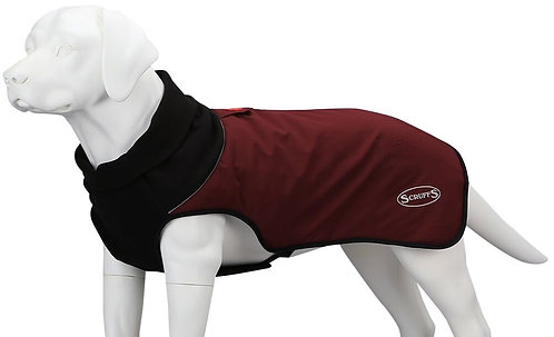 SCRUFFS THERMAL QUILTED DOG COAT CHOCOLATE