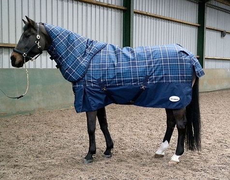 WHITAKER TURNOUT RUG WITH HOOD CHISERLEY 200G NAVY/AQUA CHE