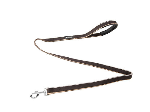 HORSEWARE RAMBO DOG LEAD WHITNEY CHOCOLATE