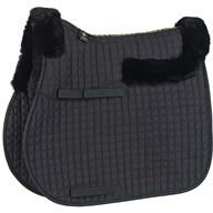 CALDENE SADDLECLOTH SHEEPSKIN HALF LINED GP BLACK