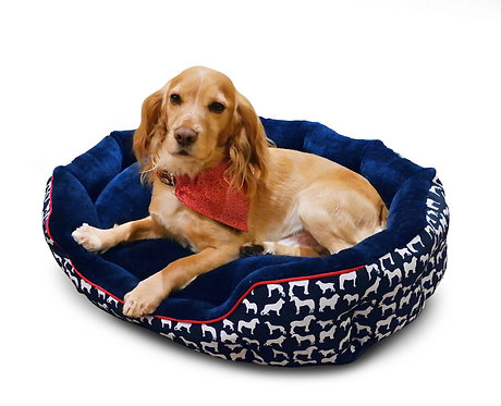 WHITAKER DOG BED STANBURY NAVY