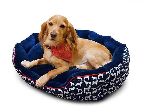 WHITAKER DOG BED STANBURY NAVY