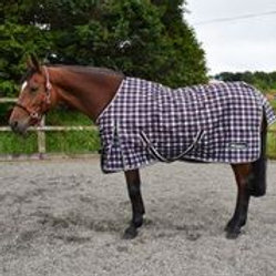 WHITAKER TURNOUT RUG LIGHTWEIGHT LYDGATE 0 GM BK/WH/RED CHCK
