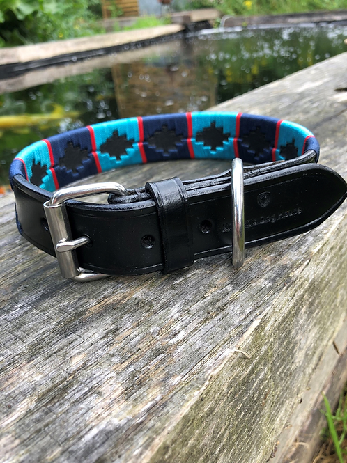 Polo Dog Collars Blue with Blue