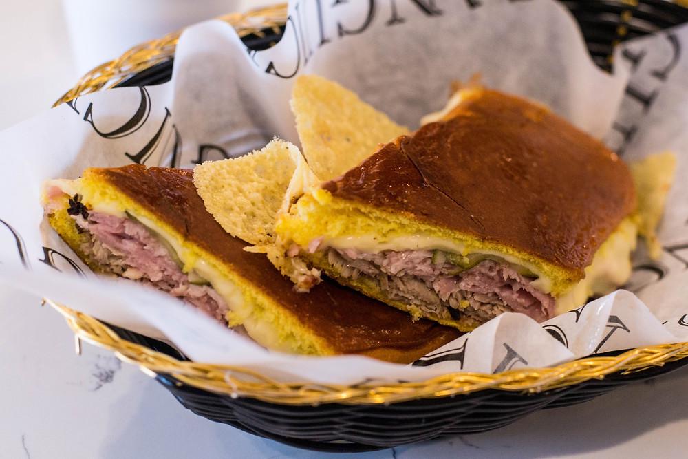 The medianoche sandwich at El Sanguich Miami