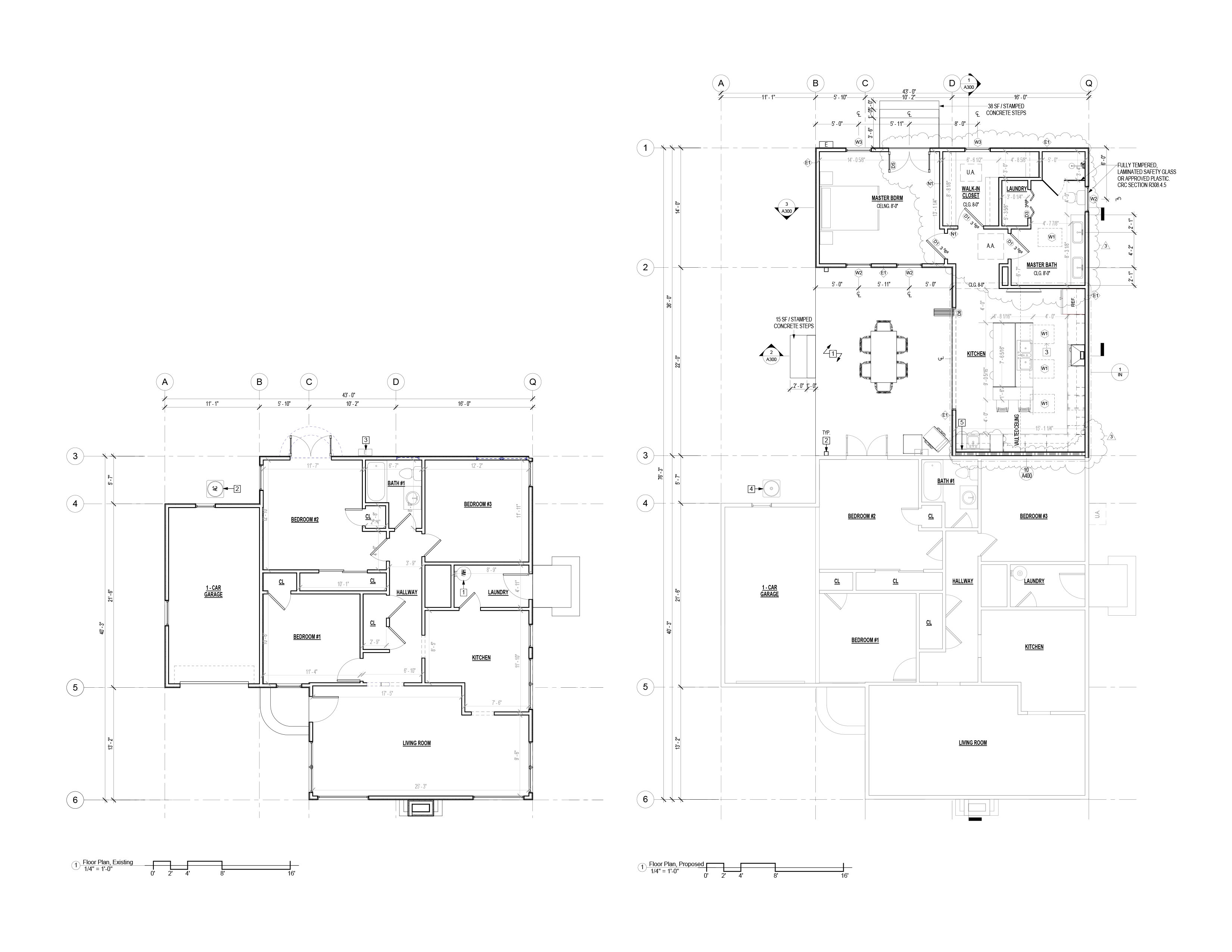Existing & Proposed Floor Plans