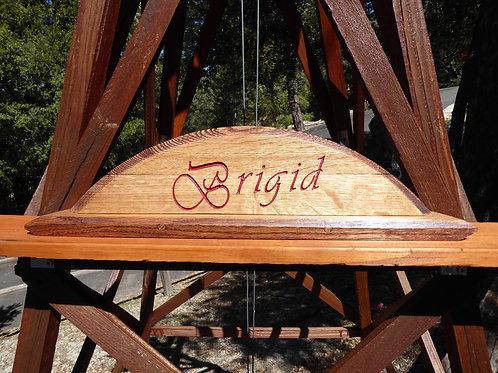 Unique Carved Reclaimed Oak Whiskey Barrel Desk Sign