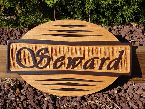 Carved Cherry Family Name Sign