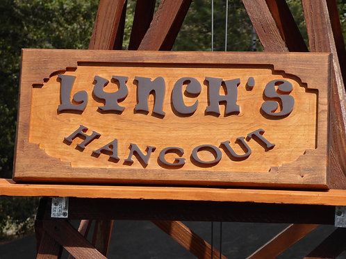 Carved Cherry Hardwood Address or Cabin Sign - Outdoor