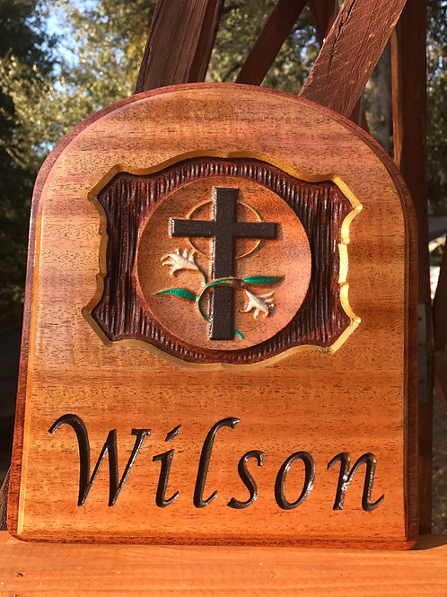 Personalized hardwood Christian plaque