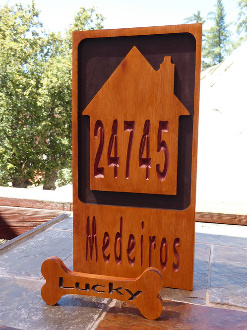 Personalized Small Carved Wood Cabin or Cottage Sign