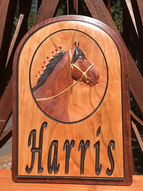 Indoor personalized Clydesdale plaque