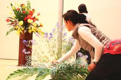 舞台花装飾 花生け準備