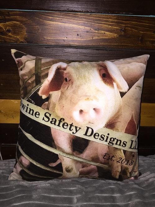 Curious Pig Pillow