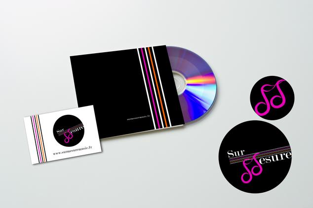 Création logo et déclinaison carte de visite et cover CD pour une artiste compositrice, interprète