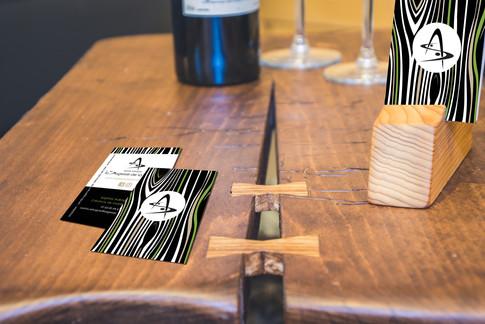 Création cartes de visite pour La Sagesse de la Matière