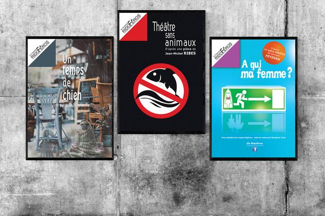 Affiches pour la compagnie de théâtre Ridoféros