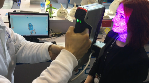 Facial 3D scanning with Shining3D EinScan-Pro at TCT Asia