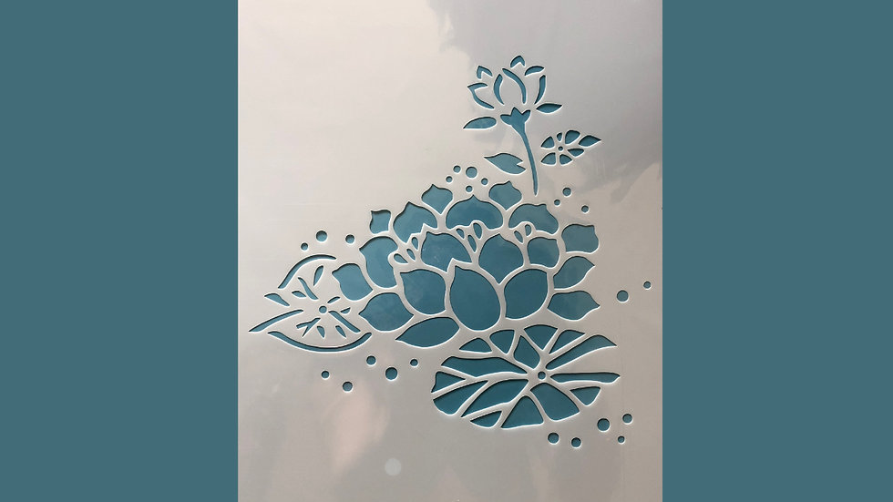 Large Stencil Water Lillies 05