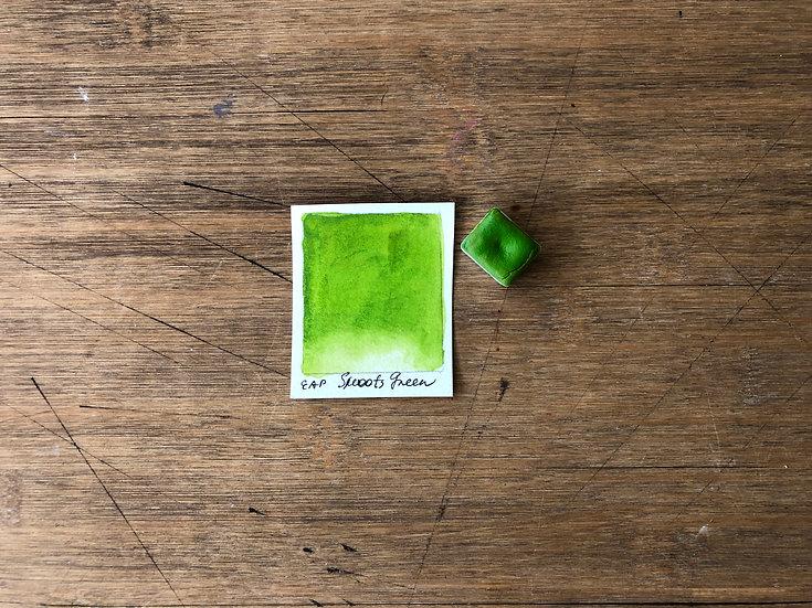 GREEN SHOOTS Handmade Watercolor Paint half pan