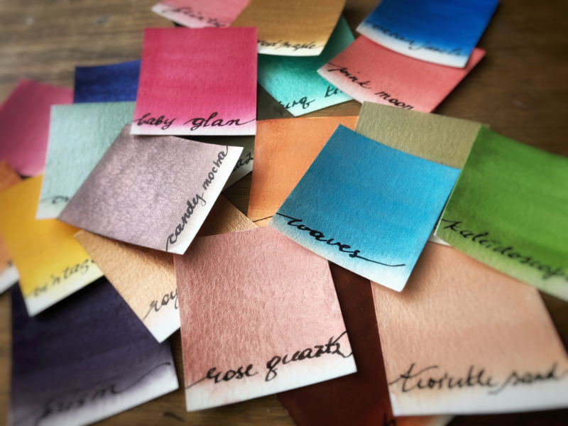 Elena's handmade watercolor swatches