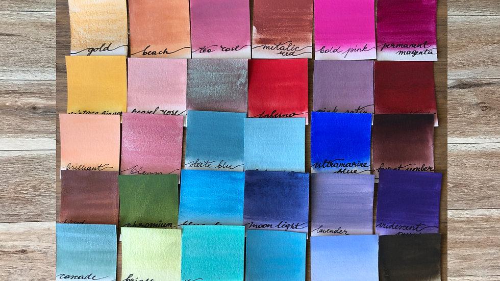 30 color set Handmade Watercolors set B