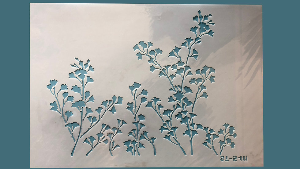 Large Stencil Wild Flowers 01